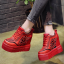รองเท้าผ้าใบเสริมส้นสีแดง/ดำ/ขาว ไซต์ 34-39 thumbnail 12