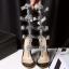 รองเท้าส้นสูงแต่งคริสตัลดูสวยหรู สีพื้นดำ/ขาว/นู๊ด ไซต์ 34-43 thumbnail 12