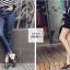 รองเท้าส้นสูง ไซต์ 35-39 มี 2 รุ่น ดำ/ครีม และ ดำ/เขียว thumbnail 10