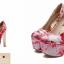 รองเท้าส้นสูง ไซต์ 34-43 สีดำ/ขาว/แดง thumbnail 8