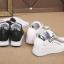 รองเท้าผ้าใบเสริมส้นสีขาว/ดำ ไซต์ 35-39 thumbnail 9
