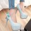 รองเท้าส้นสูงคัดชูสีฟ้า/ชมพู/ครีม/ดำ ไซต์ 34-43 thumbnail 9