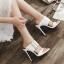 รองเท้าส้นสูงแบบสวมสีดำ/ขาว ไซต์ 35-40 thumbnail 3
