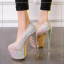 รองเท้าส้นสูงเก็ดกลิ๊กเตอร์สีฟ้า/ม่วง/ทอง/ชม ไซต์ 34-43 thumbnail 10