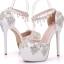 รองเท้าเจ้าสาวสีขาวติดคริสตัลเพชร์ ไซต์ 34-41 thumbnail 1