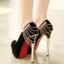 รองเท้าส้นสูงสีแดง/ดำ ไซต์ 34-39 thumbnail 2