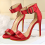 รองเท้าส้นสูง ไซต์ 34-39 แดงเข้ม/ดำ/เขียว/ชมพูเข้ม/ชมพูอ่อน/ขาว/เงิน/แดงส้ม thumbnail 2