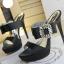 รองเท้าส้นสูงแบบสวยหรูสีดำ/ครีม ไซต์ 34-38 thumbnail 10