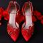 รองเท้าเจ้าสาวสีแดงแต่งดีเทลสวย ไซต์ 34-39 thumbnail 3