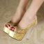 รองเท้าส้นสูงส้นแก้วสีเงิน/ทอง/ดำ ไซต์ 34-39 thumbnail 7
