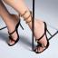 รองเท้าส้นสูงแบบสวมสวยเก๋สีดำ ไซต์ 34-39 thumbnail 1