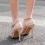 รองเท้าส้นสูงสายไขว้สีครีม/ดำ ไซต์ 35-40 thumbnail 5