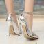 รองเท้าส้นสูงปลายแหลม 5.2 นิ้ว สีดำ/แดง/เงิน/ทอง/น้ำเงิน ไซต์ 35-43 thumbnail 4