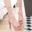 รองเท้าส้นสูงสีหวานชมพู/แดง/ดำ/ครีม ไซต์ 34-40 thumbnail 5