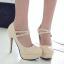 รองเท้าส้นสูงคัดชูหนังแก้วสีดำ/แดง/ครีม ไซต์ 34-43 thumbnail 6