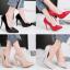 รองเท้าตัดชูปลายแหลมทรงสวยสีดำ/แดง/เทา/นู๊ด ไซต์ 34-39 thumbnail 1
