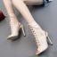 รองเท้าส้นสูงสีดำ/ครีม ไซต์ 35-40 thumbnail 3