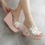 รองเท้าส้นเตารีดส้นติดกากเพชรแน่นๆสีเงิน/ทอง/ขาว/ชมพู ไซต์ 34-39 thumbnail 3
