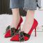 รองเท้าส้นสูงคัดชูปลายแหลมสีแดง/ดำ/เทา/น้ำตาล ไซต์ 34-39 thumbnail 2