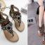 รองเท้าส้นแบน ไซต์ 35-39 สีดำ/เทา thumbnail 3