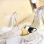 รองเท้าส้นสูงส้นแก้วคริสตัลแบบสวมสีทอง/ขาว ไซต์ 34-39 thumbnail 8