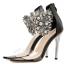 รองเท้าส้นสูงแต่มุขและคริสตัลที่สายรัดข้อสวยหรูสีดำ ไซต์ 35-40 thumbnail 5