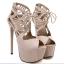 รองเท้าส้นสูง ไซต์ 35-40 สีดำ สีครีม thumbnail 6