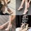 รองเท้าส้นสูงแต่งคริสตัลดูสวยหรู สีพื้นดำ/ขาว/นู๊ด ไซต์ 34-43 thumbnail 1