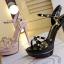 รองเท้าส้นสูงสีชมพู/ดำ ไซต์ 34-39 thumbnail 7