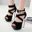 รองเท้าส้นสูงสีดำ ไซต์ 34-39 thumbnail 1