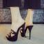 รองเท้าส้นสูงแบบสวมสีดำ/น้ำตาล ไซต์ 34-39 thumbnail 4