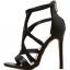 รองเท้าส้นสูงสายไขว้สีชมพู/ดำ ไซต์ 35-40 thumbnail 8