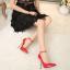 รองเท้าส้นสูงปลายแหลม 5.2 นิ้ว สีดำ/แดง/เงิน/ทอง/น้ำเงิน ไซต์ 35-43 thumbnail 8