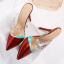 รองเท้าส้นสูงปลายแหลมแบบสวมสีแดง/ชมพู/ดำ/ครีม ไซต์ 34-38 thumbnail 13