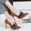 รองเท้าส้นสูงคัดชูปลายแหลมสีแดง/ดำ/เทา/น้ำตาล ไซต์ 34-39 thumbnail 5