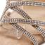 รองเท้าส้นสูงสายคาดติดคริสตัลสีน้ำตาล/ดำ ไซต์ 35-40 thumbnail 9
