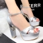 รองเท้าส้นสูง ไซต์ 34-39 สีดำ สีแดง สีขาว สีเนื้อ สีเทา สีเงิน thumbnail 9
