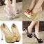 รองเท้าส้นสูงส้นแก้วสีเงิน/ทอง/ดำ ไซต์ 34-39 thumbnail 1