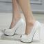 รองเท้าส้นสูง ไซต์ 34-39 สีดำ/ขาว thumbnail 4