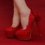 รองเท้าเจ้าสาวสีแดง ไซต์ 34-39 thumbnail 1