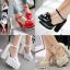 รองเท้าส้นสูงสีแดง/ครีม/ขาว/ดำ ไซต์ 34-39 thumbnail 1