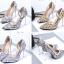 รองเท้าส้นสูงปลายแหลมสีเงิน/ทอง/ฟ้า ไซต์ 34-39 thumbnail 1