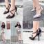 รองเท้าส้นสูงปลายแหลมสีเงิน/ดำ ไซต์ 35-40 thumbnail 1
