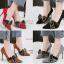 รองเท้าส้นสูงคัดชูปลายแหลมสีแดง/ดำ/เทา/น้ำตาล ไซต์ 34-39 thumbnail 1