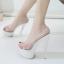 รองเท้าส้นสูงแบบสวมสีขาว/ดำ ไซต์ 34-38 thumbnail 4