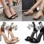 รองเท้าส้นสูงสีครีม/ดำ ไซต์ 35-40 thumbnail 1