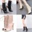 รองเท้าส้นสูงสีดำ/ครีม ไซต์ 35-40 thumbnail 1