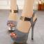 รองเท้าส้นสูงสีชมพู/เทา ไซต์ 34-39 thumbnail 2
