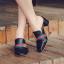 รองเท้าส้นสูง ไซต์ 35-39 มี 2 รุ่น ดำ/ครีม และ ดำ/เขียว thumbnail 9