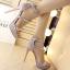 รองเท้าส้นสูงสีเทา/ดำ ไซต์ 34-38 thumbnail 4